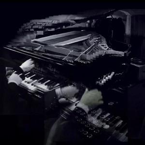 Pianos print by Vicki Bennett (Feb 2015) - 10inch square